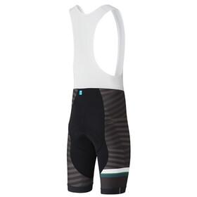 Shimano Team Bib Shorts Heren, black/green
